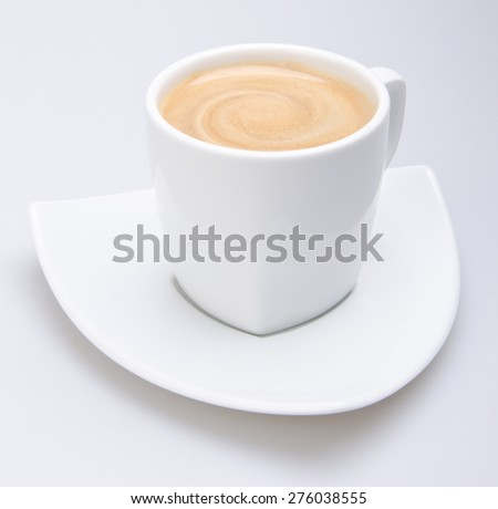 coffee, cup of coffee on background - stock photo