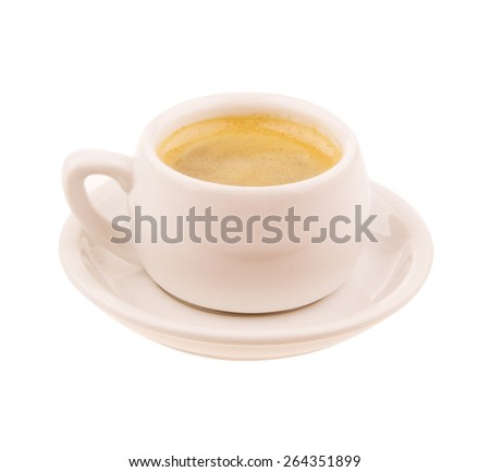Coffee cup of espresso isolated on white