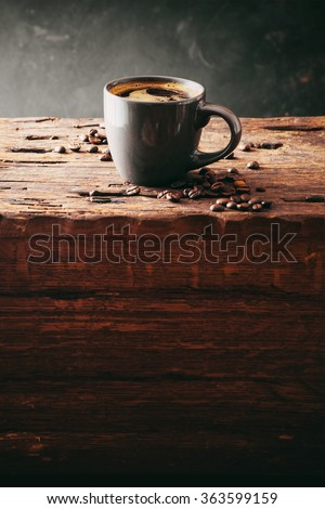 Coffee. Cup of turkish coffee with sugar. Vintage coffee - stock photo