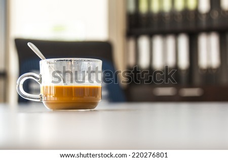 Coffee cup office - stock photo