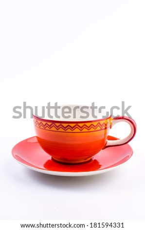Coffee cup on isolated on white background