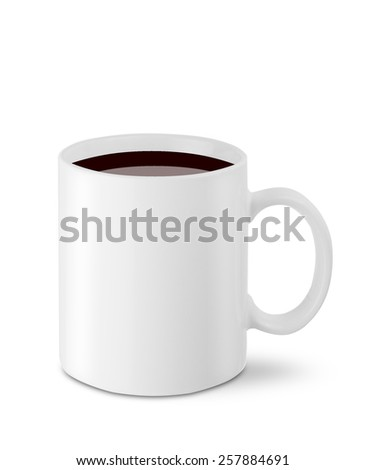 Coffee cup on white background. Isolated.