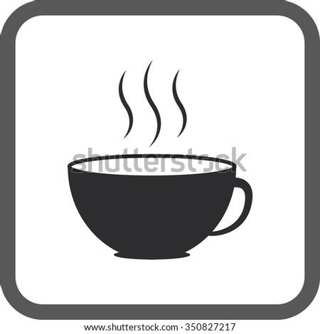 Coffee Cup Symbol Icons Set On Stock Illustration 350827217