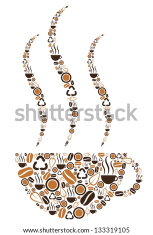 Coffee Cup Symbolic - stock photo
