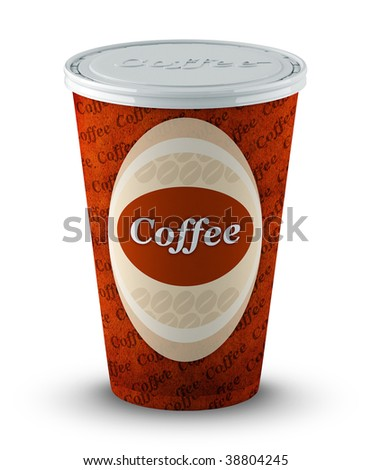 coffee cup with clipping path