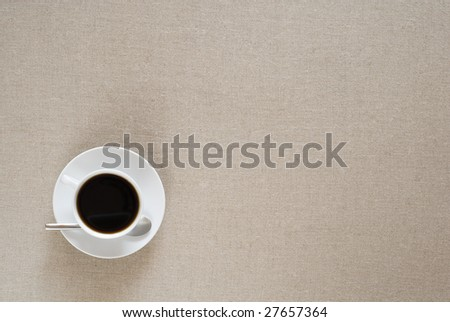 Coffee cup with space for copy and design. - stock photo