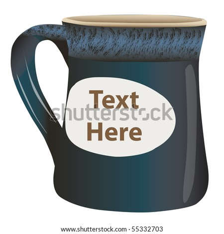 Coffee Cup with space for text - stock photo