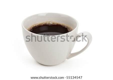 Coffee cup with white background - stock photo