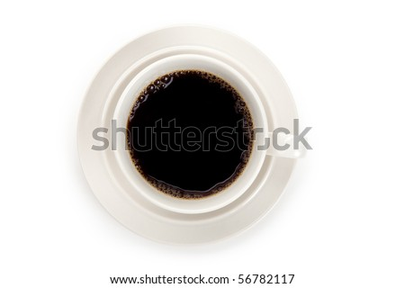 Coffee cup with white background