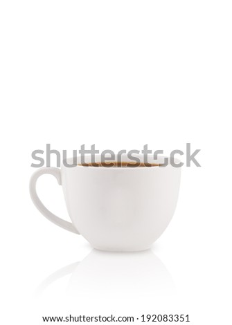 Coffee-cup with white copy space, isolated on white - stock photo