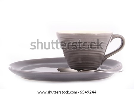 coffee cups against white background