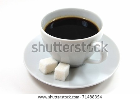 Coffee drink with sugar - stock photo