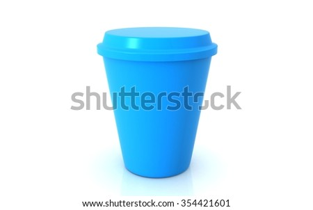 Coffee drinking cup on white background - stock photo