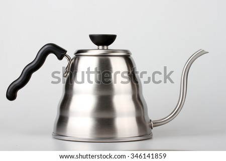 Coffee drip kettle - stock photo