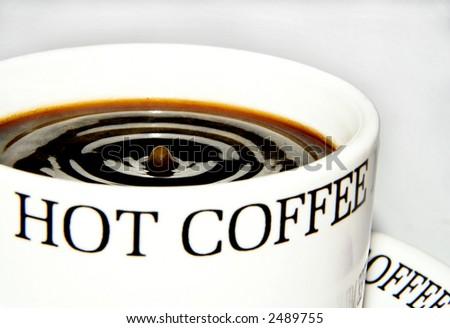 coffee drop - stock photo