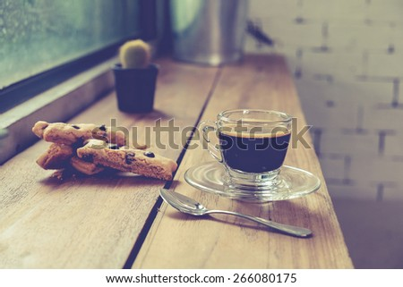 Coffee Espresso. Cup Of Coffee,Vintage effect - stock photo