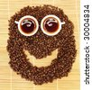 Coffee face concept - stock photo