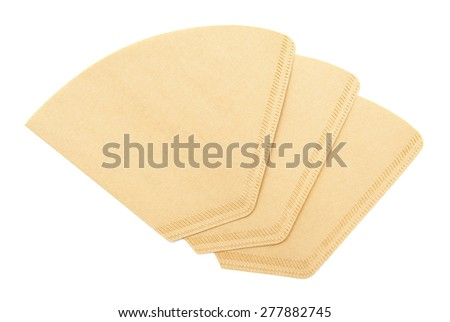 Coffee filters - stock photo