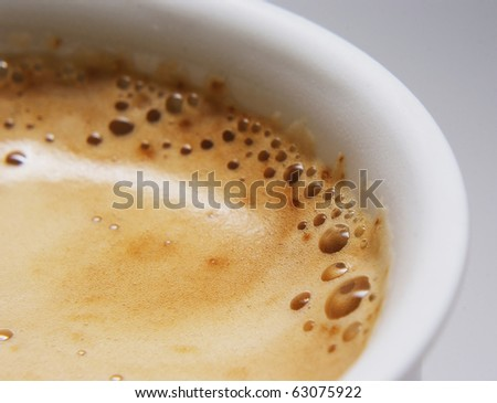 Coffee foam - stock photo