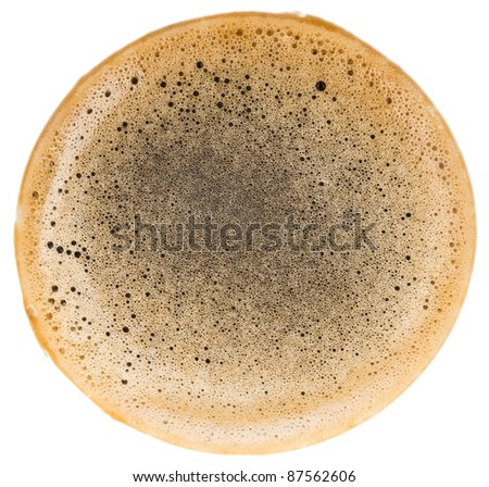 coffee foam isolated on white background - stock photo