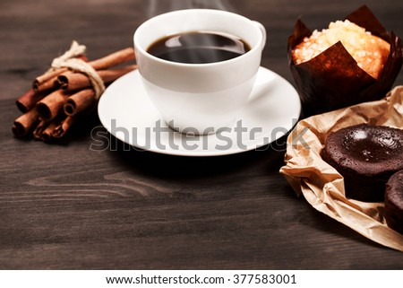 Coffee for breakfast - stock photo