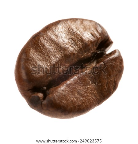 coffee grain on white background - stock photo