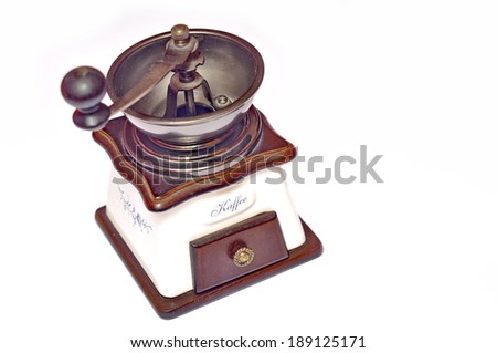 Coffee grinder, isolated - stock photo
