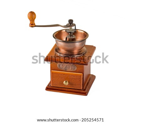 Coffee Grinder over white background.