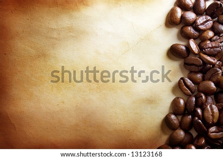 Coffee grunge background - stock photo