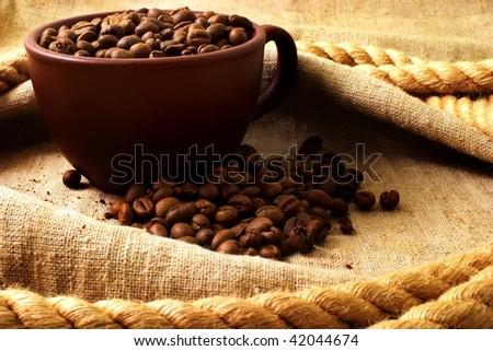 Coffee grunge background - stock photo