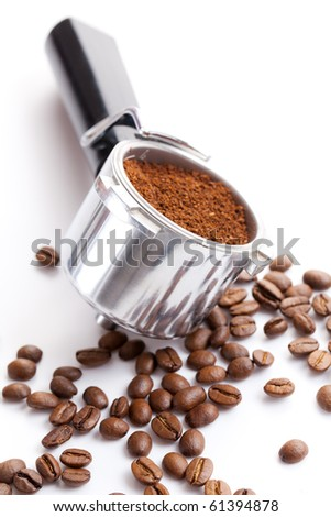 coffee handle - stock photo