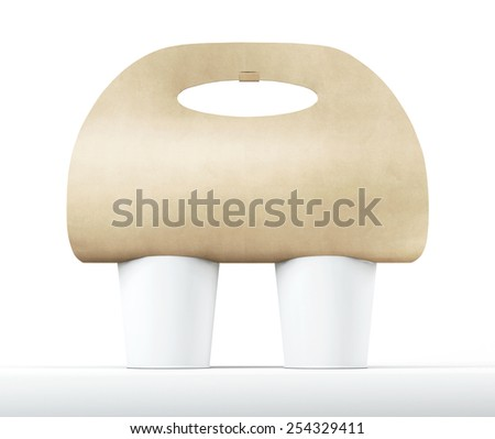 Coffee Holder on a white background. - stock photo