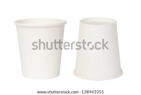 Coffee hot drinking paper cup. - stock photo