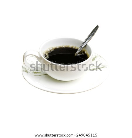 Coffee Hot,isolated on white background, with clipping path - stock photo