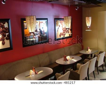 coffee house - stock photo