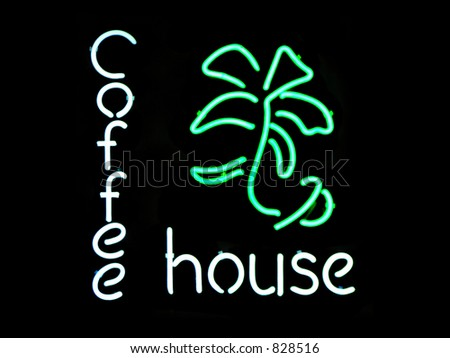 Coffee House neon sign - stock photo