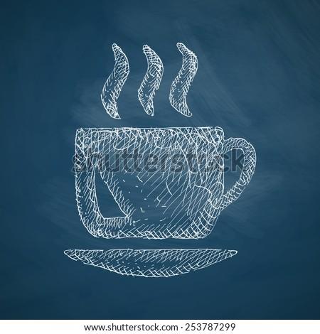 coffee icon - stock photo