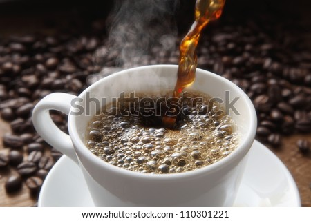 Coffee image - stock photo