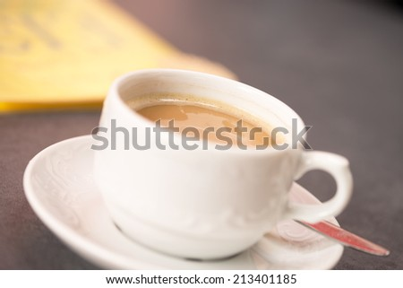 Coffee in a coffee cup / Coffee - stock photo