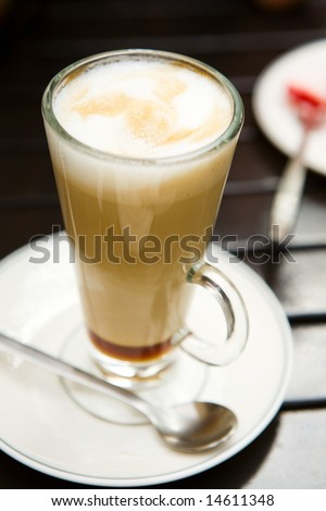 coffee in a high glass - stock photo