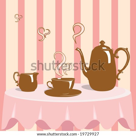 Coffee in a retro style - stock photo