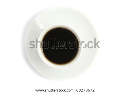 coffee isolated in white background