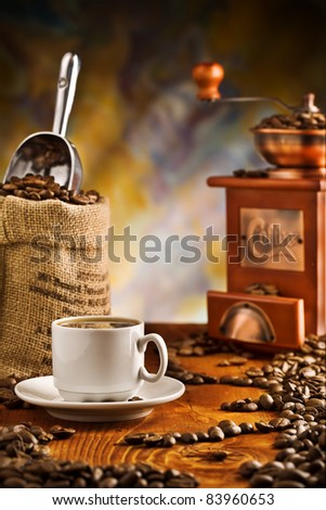 coffee items on table