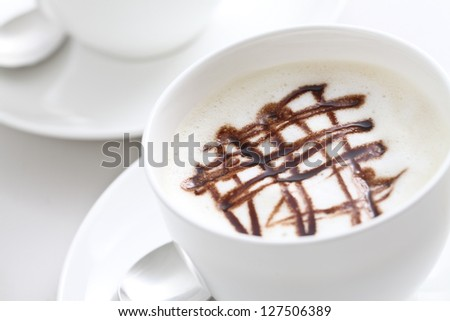 Coffee, latte, - stock photo