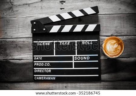 coffee latte - stock photo