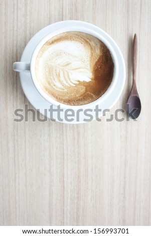 Coffee, latte and latte art. - stock photo