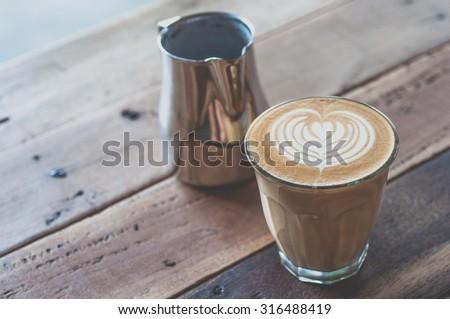 coffee latte art - stock photo