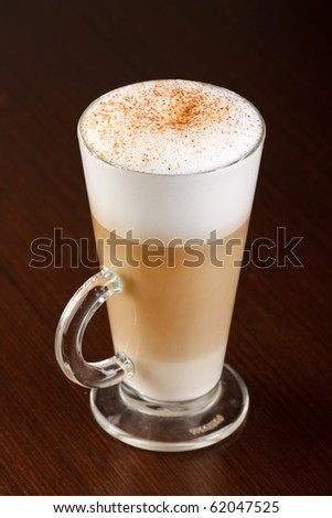 Coffee Latte in a glass - stock photo