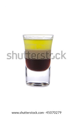 coffee liqueur, Irish Cream , Grand Marnier Cordon Rouge. - stock photo