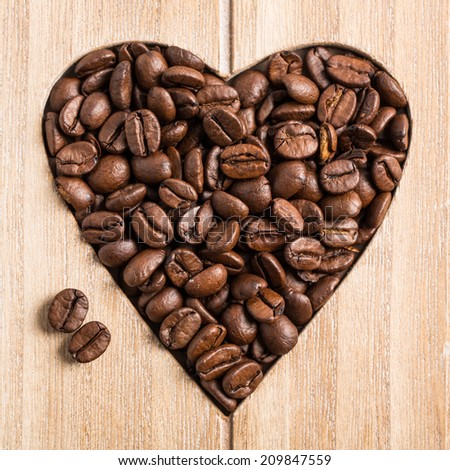 Coffee - Love goes through the stomach - stock photo